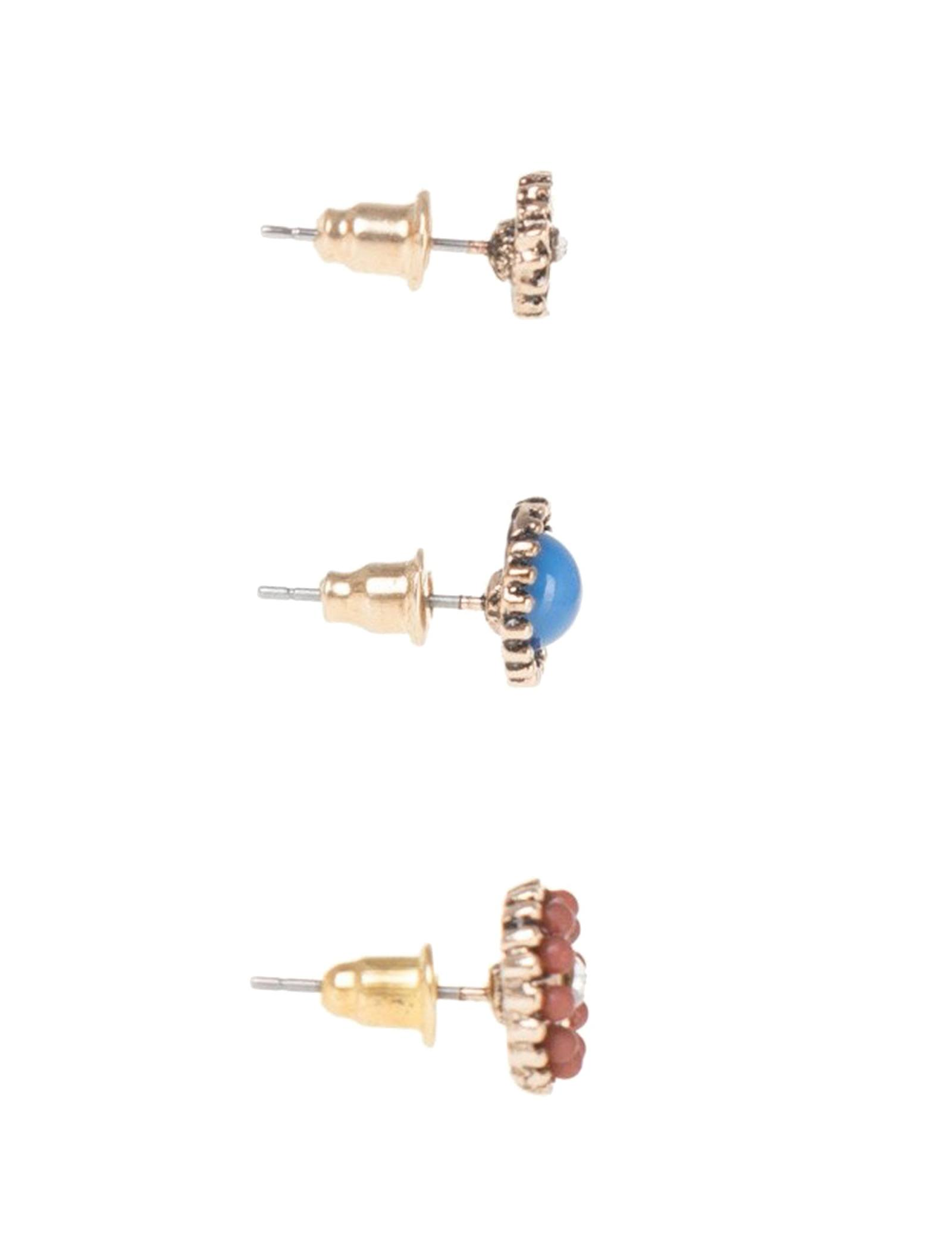 گوشواره زنانه بسته 3 عددی - پارفوا - چند رنگ - 2