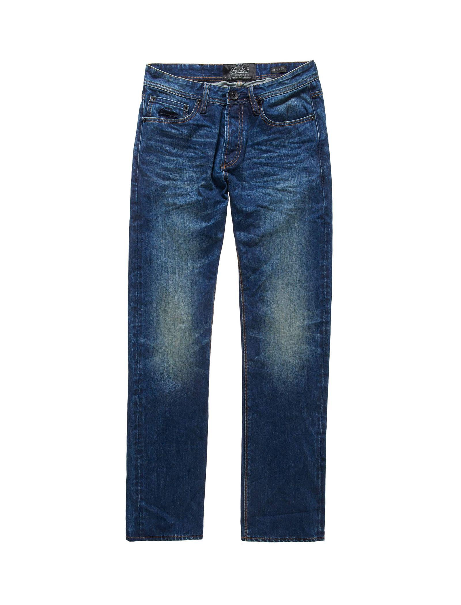 شلوار جین راسته مردانه - سوپردرای - آبي - 4