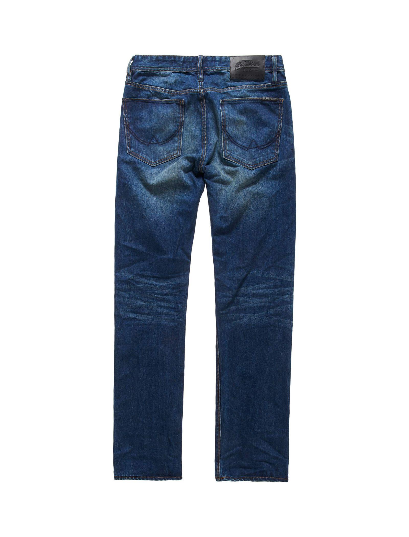 شلوار جین راسته مردانه - سوپردرای - آبي - 5