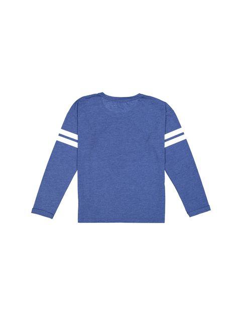 تی شرت آستین بلند پسرانه - دفکتو - سرمه اي روشن - 2