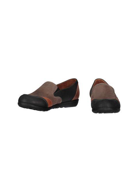 کفش تخت جیر زنانه - شهر چرم - مشکي و نارنجي و قهوه اي - 4