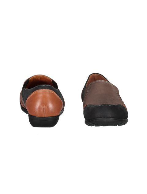 کفش تخت جیر زنانه - شهر چرم - مشکي و نارنجي و قهوه اي - 5