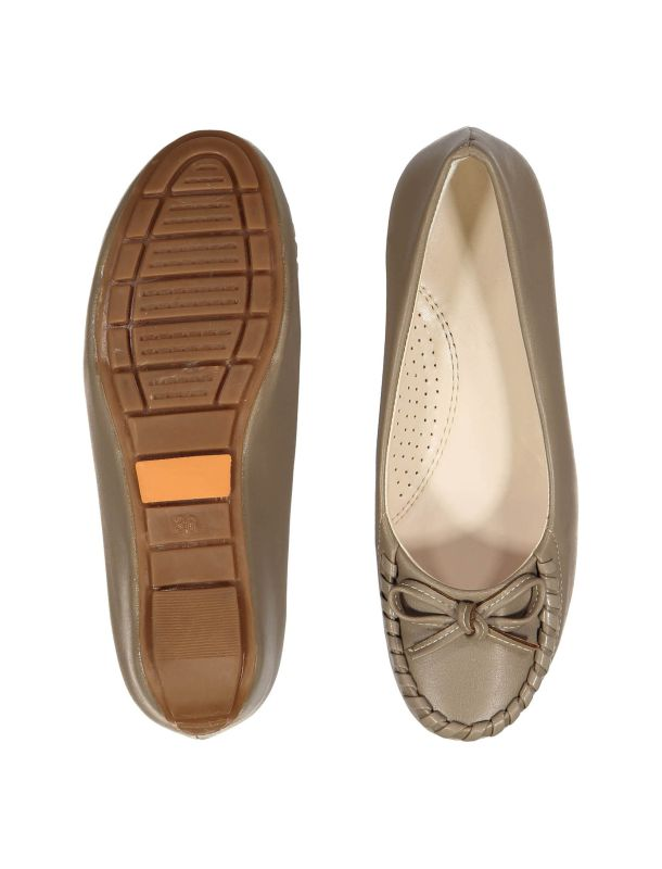 کفش تخت چرم زنانه - شهر چرم