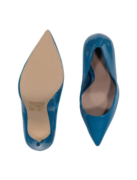 کفش پاشنه بلند زنانه - آبي - 2