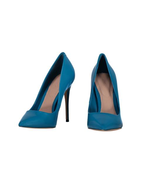 کفش پاشنه بلند زنانه - آبي - 4