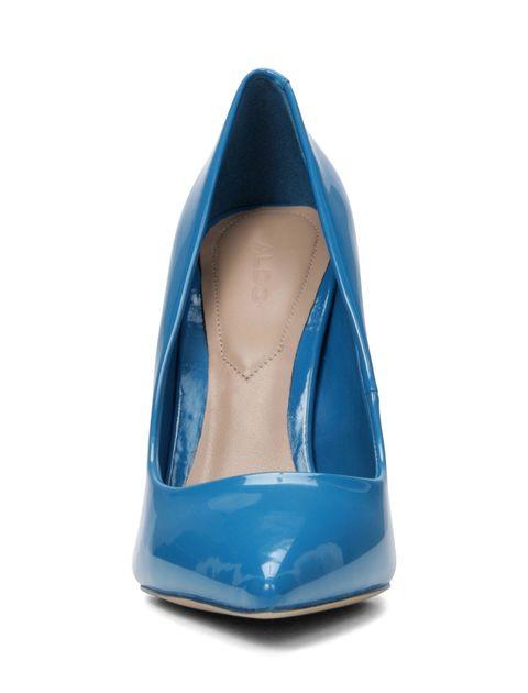 کفش پاشنه بلند زنانه - آبي - 6