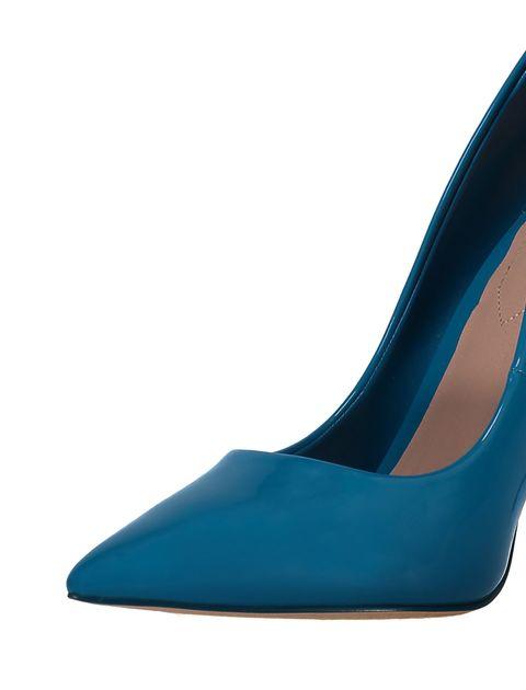 کفش پاشنه بلند زنانه - آبي - 8