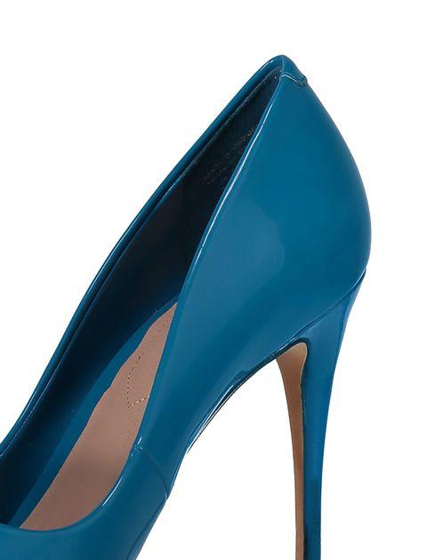 کفش پاشنه بلند زنانه - آبي - 9