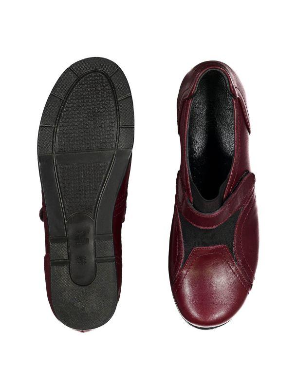 کفش چرم چسبی زنانه - پاتن چرم