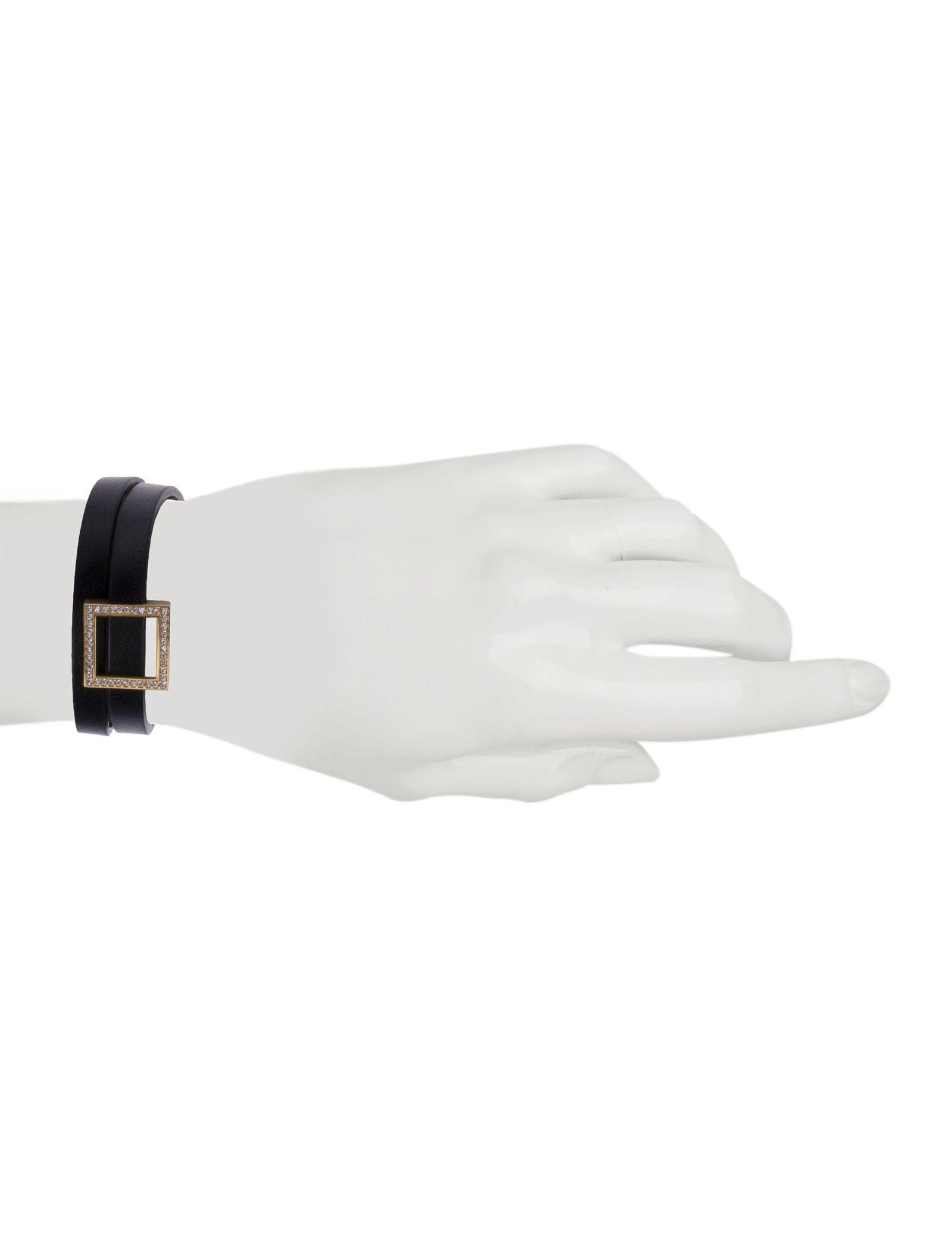 دستبند طلا زنانه - درسا - مشکي - 5