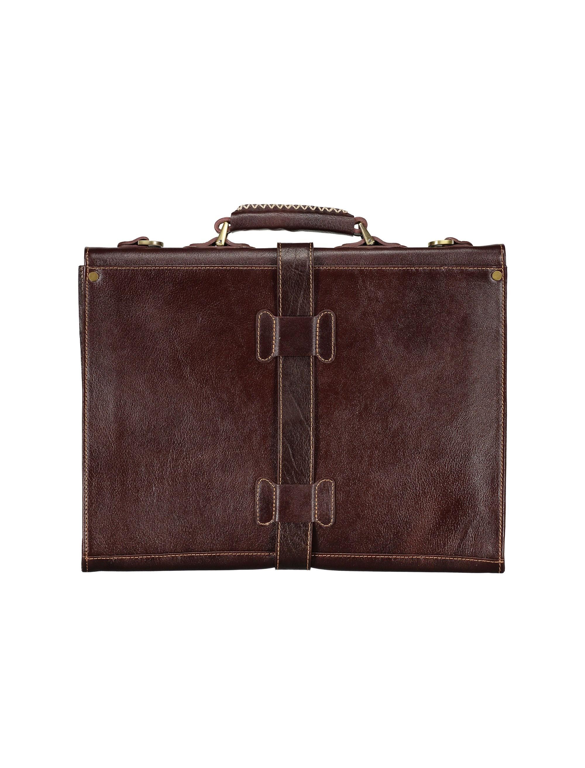 کیف دستی چرم بزرگسال - شهر چرم - قهوه اي  - 2