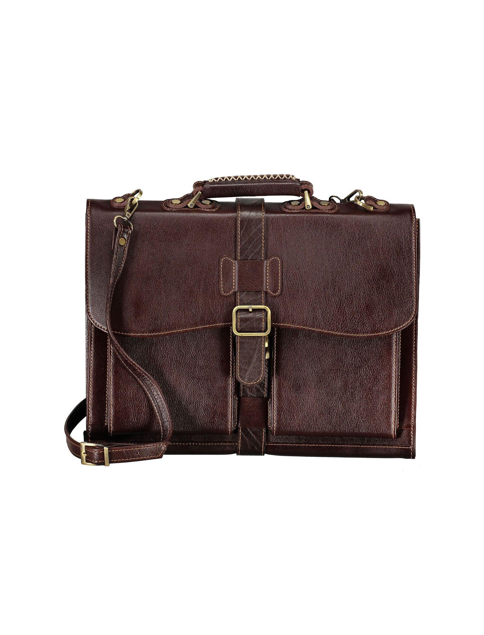 کیف دستی چرم بزرگسال - شهر چرم - قهوه اي  - 3