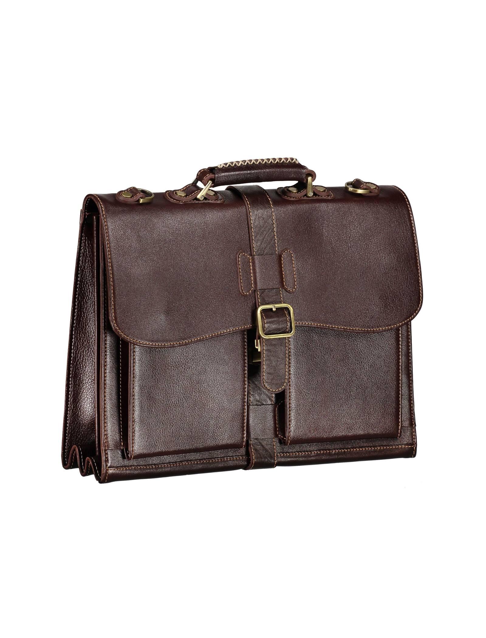 کیف دستی چرم بزرگسال - شهر چرم - قهوه اي  - 4