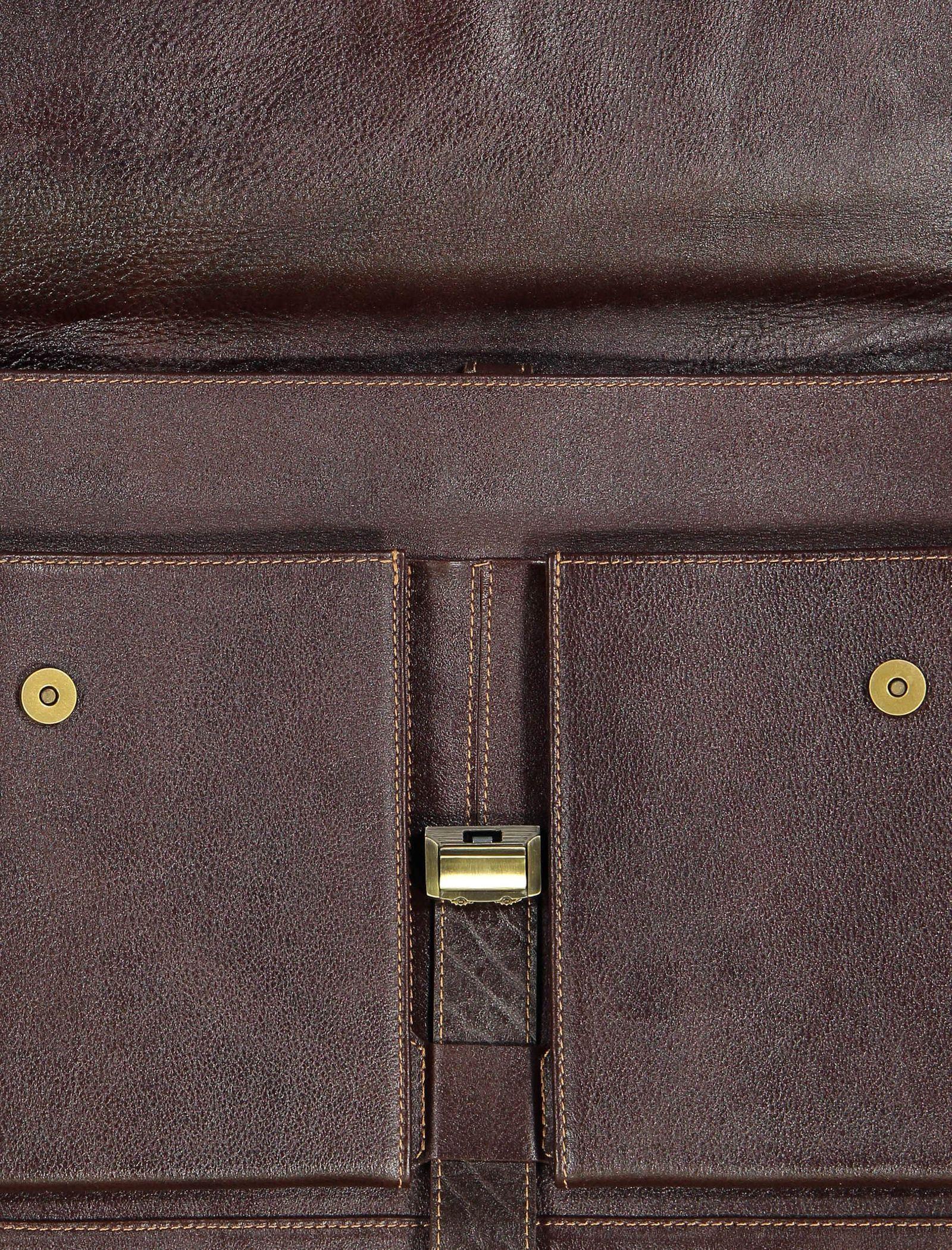 کیف دستی چرم بزرگسال - شهر چرم - قهوه اي  - 7