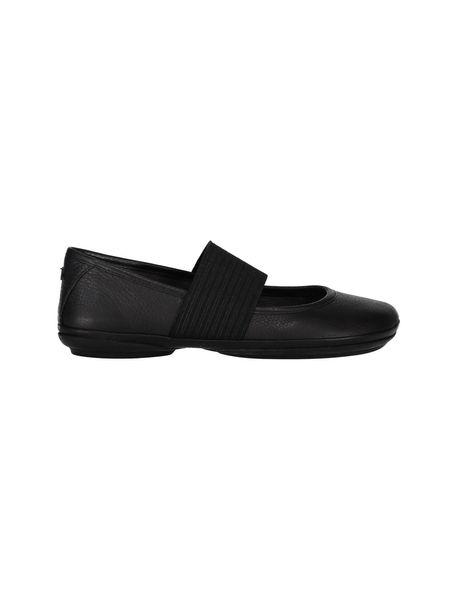 کفش تخت چرم زنانه - مشکي - 1