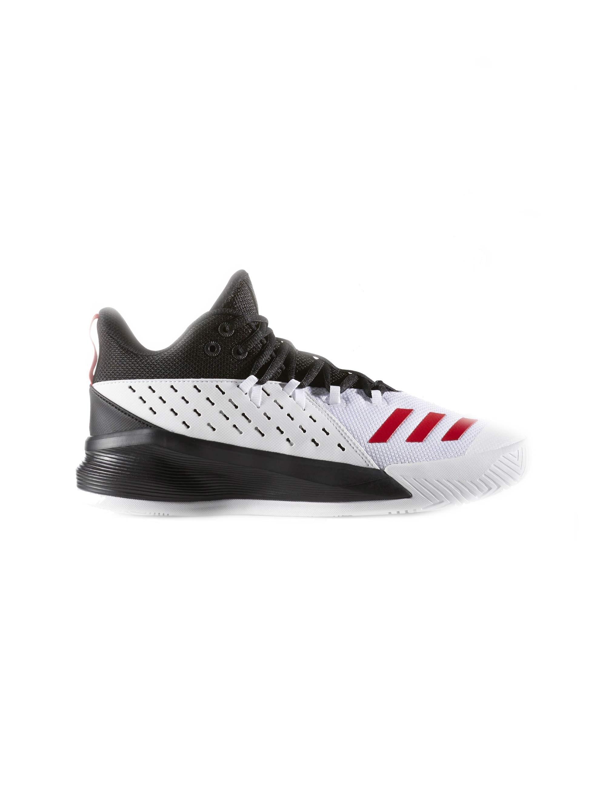 کفش بسکتبال بندی مردانه monochrome Street Jam 3 - آدیداس