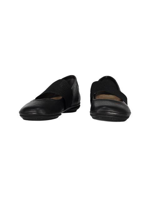 کفش تخت چرم زنانه - مشکي - 4