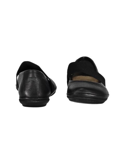 کفش تخت چرم زنانه - مشکي - 5