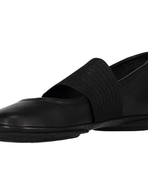 کفش تخت چرم زنانه - مشکي - 6