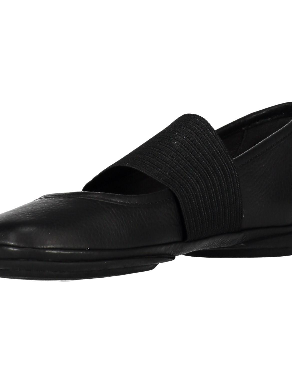 کفش تخت چرم زنانه - کمپر - مشکي - 6