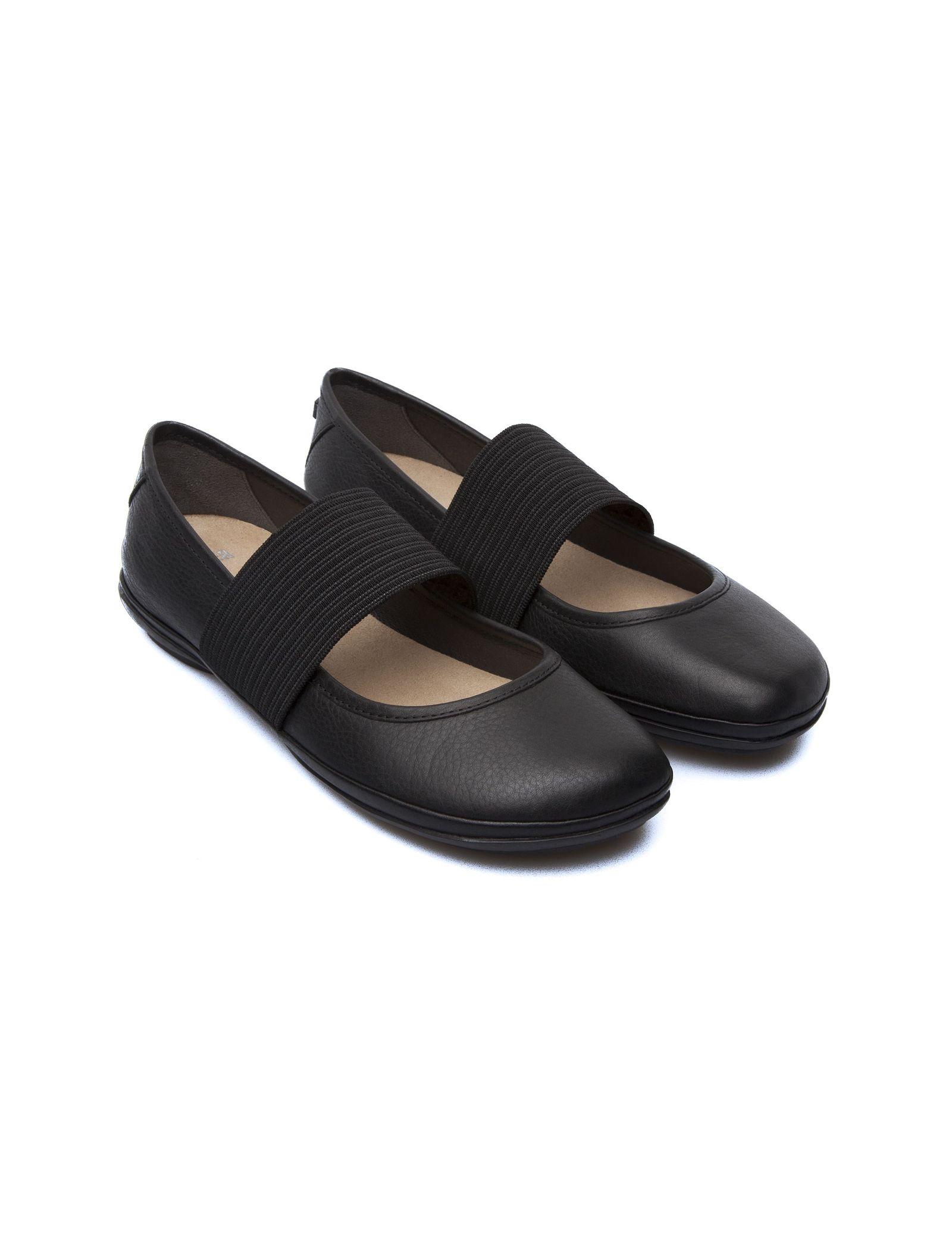 کفش تخت چرم زنانه - کمپر - مشکي - 7