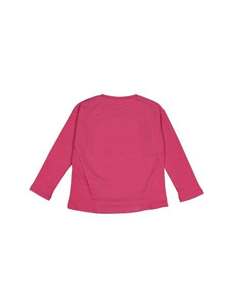 تی شرت نخی دخترانه - سرخابي - 2