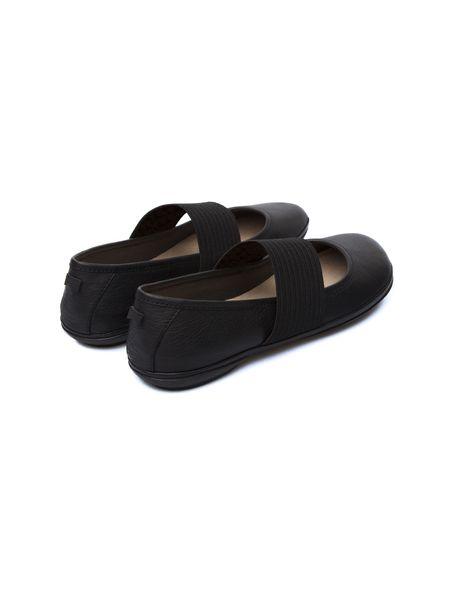 کفش تخت چرم زنانه - مشکي - 8