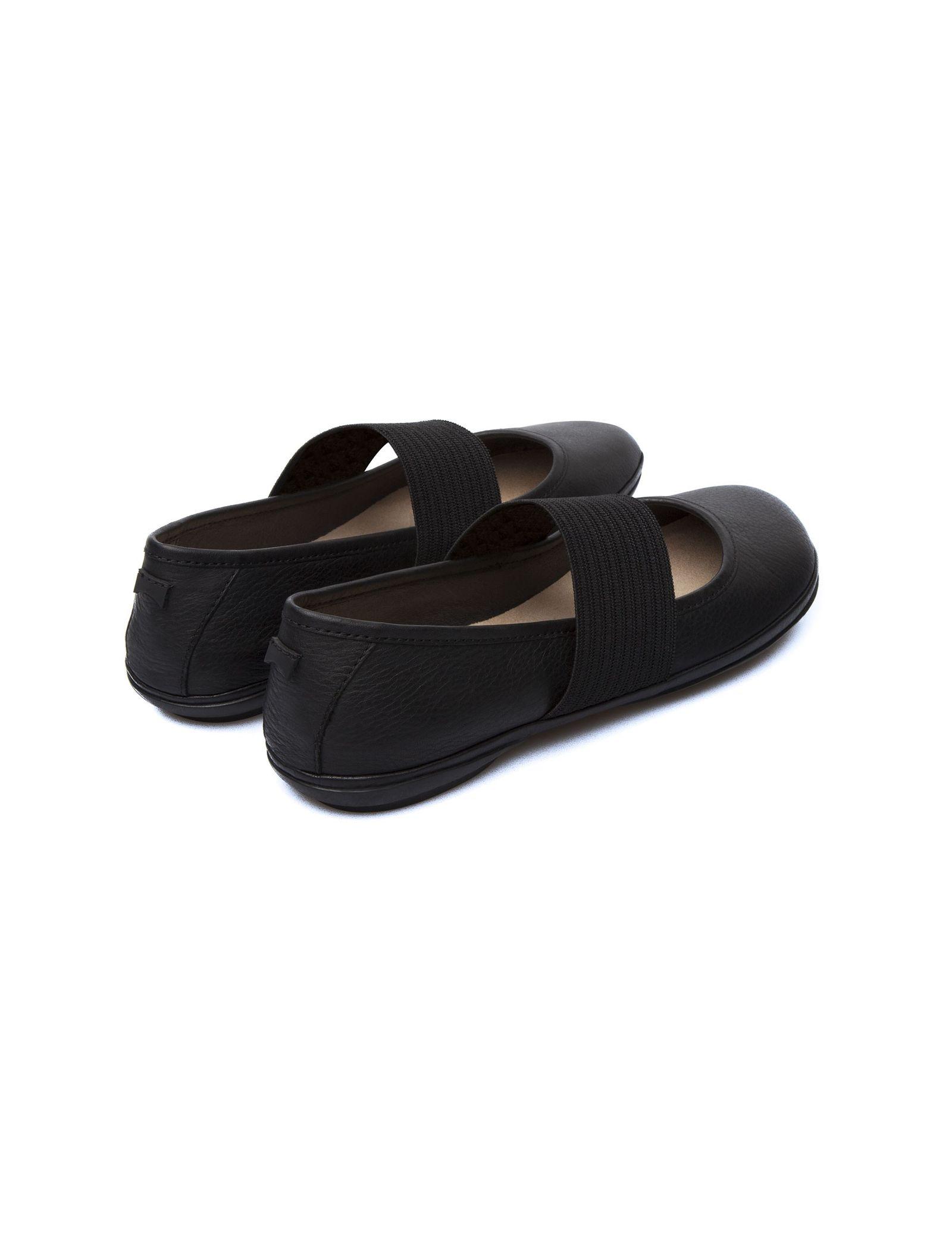 کفش تخت چرم زنانه - کمپر - مشکي - 8