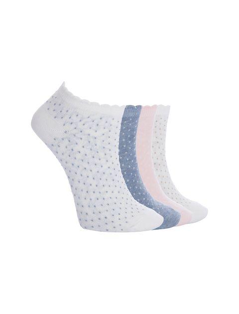 جوراب ساق کوتاه زنانه بسته 4 عددی - چندرنگ  - 10