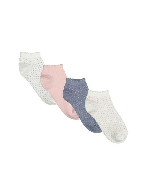 جوراب ساق کوتاه زنانه بسته 4 عددی - چندرنگ  - 1