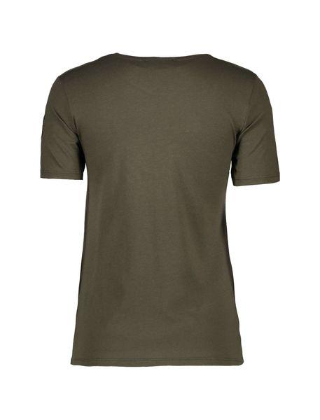 تی شرت یقه گرد زنانه - زيتوني - 2