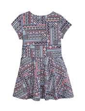 پیراهن نخی کوتاه دخترانه - آبي و صورتي - 2