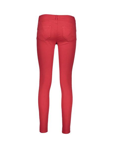 شلوار جین جذب زنانه - قرمز - 2
