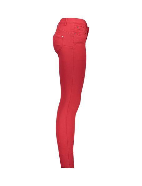 شلوار جین جذب زنانه - قرمز - 3
