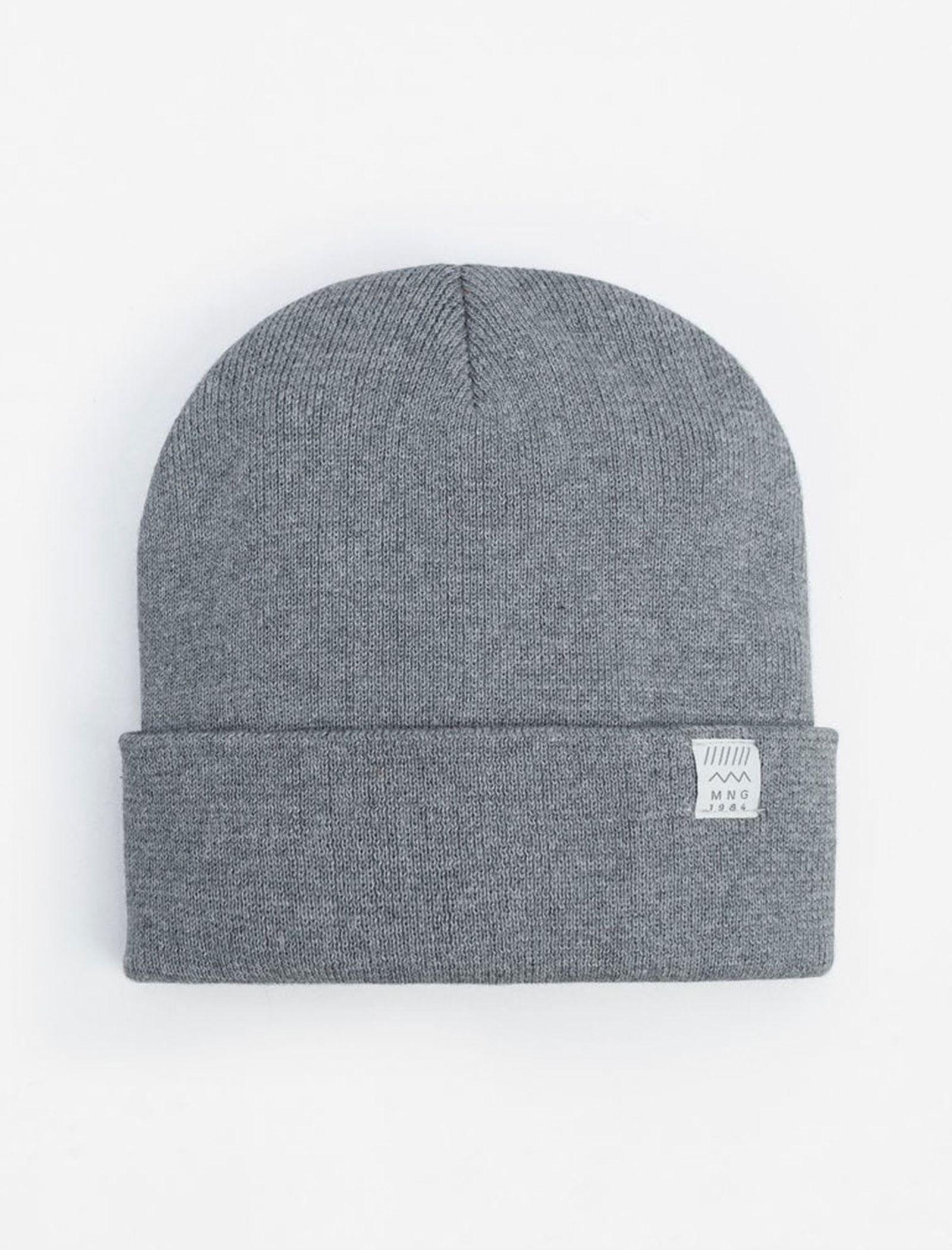 کلاه بافتنی پسرانه - مانگو - طوسي - 1