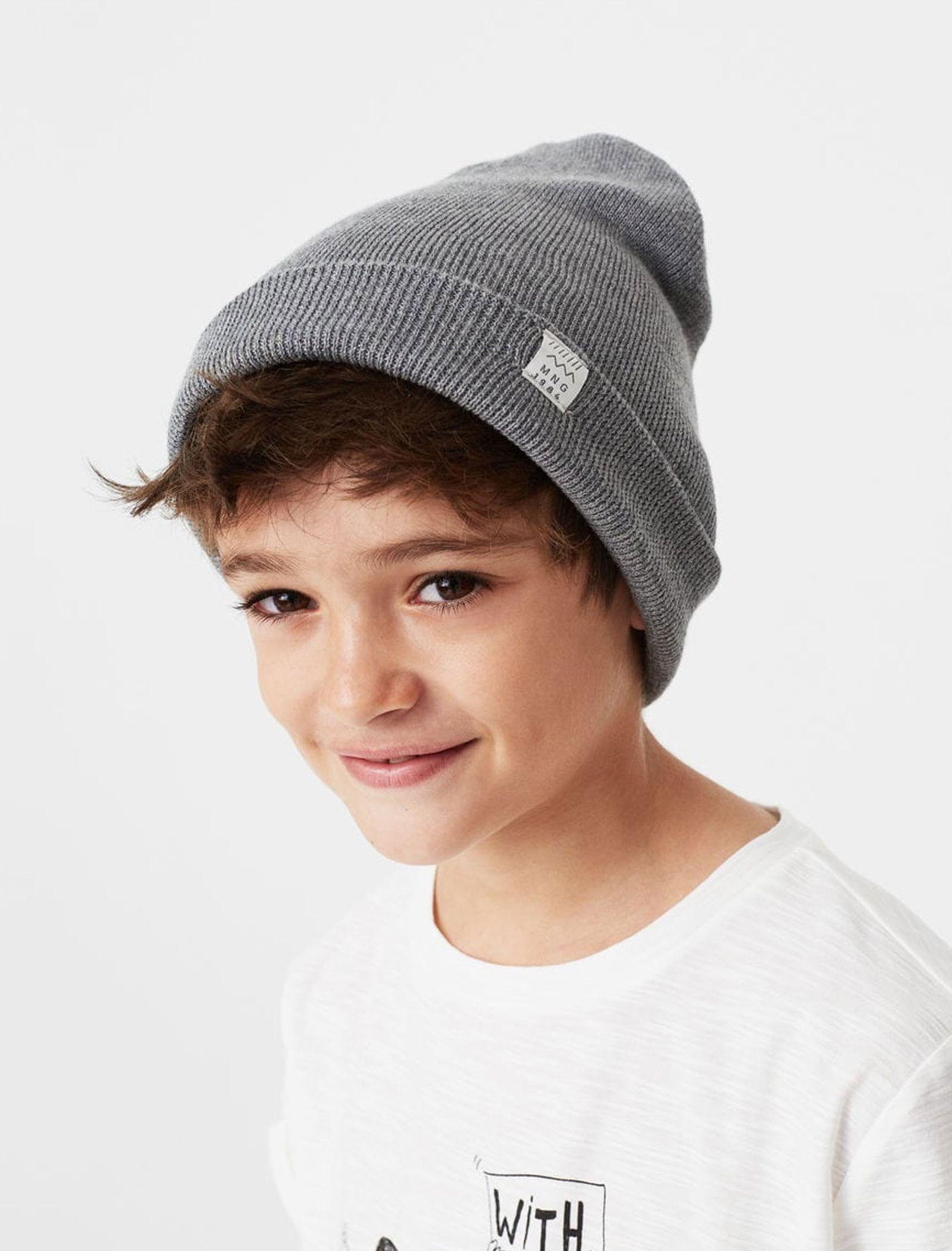 کلاه بافتنی پسرانه - مانگو - طوسي - 2