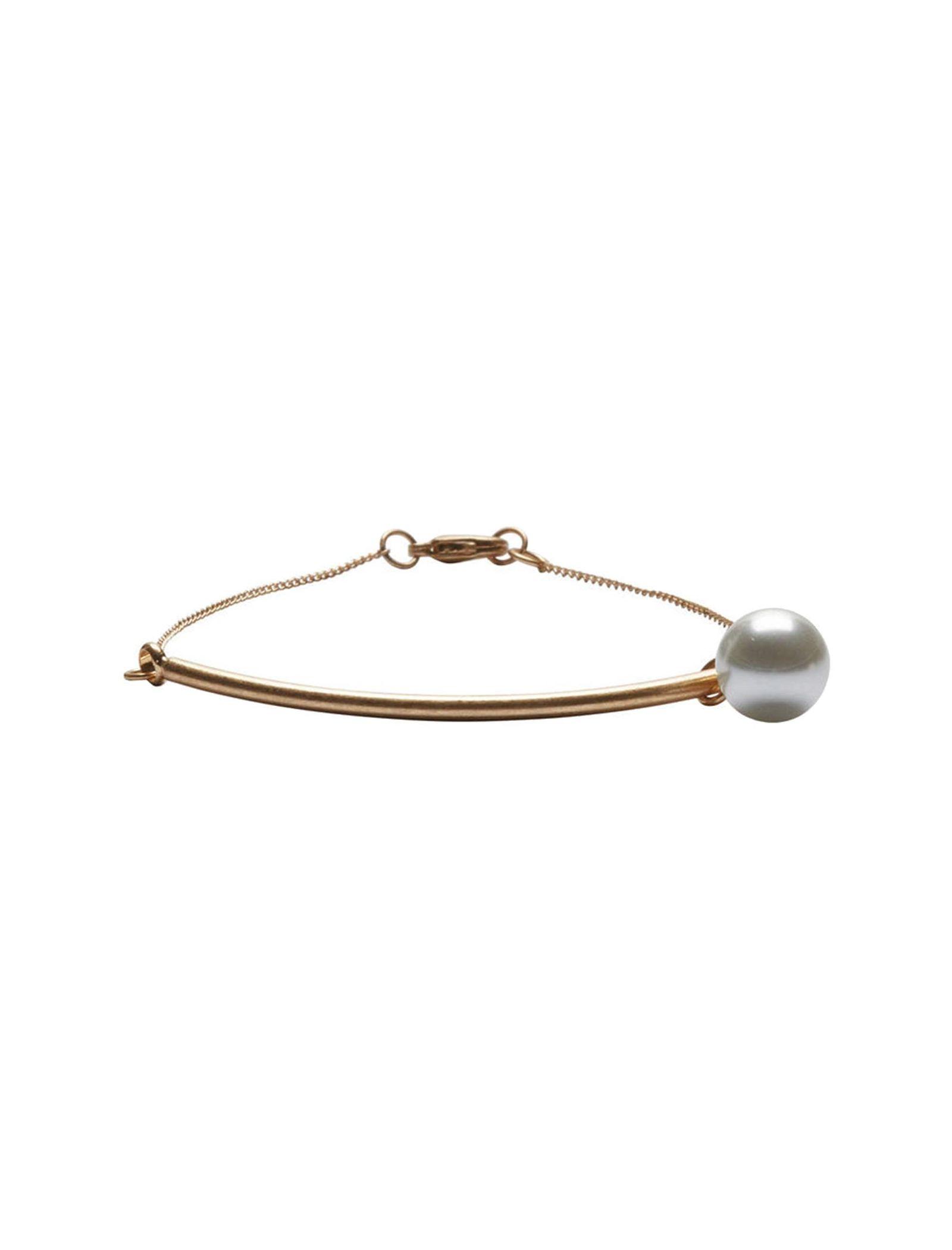دستبند فلزی زنانه - سلکتد - طلايي - 1