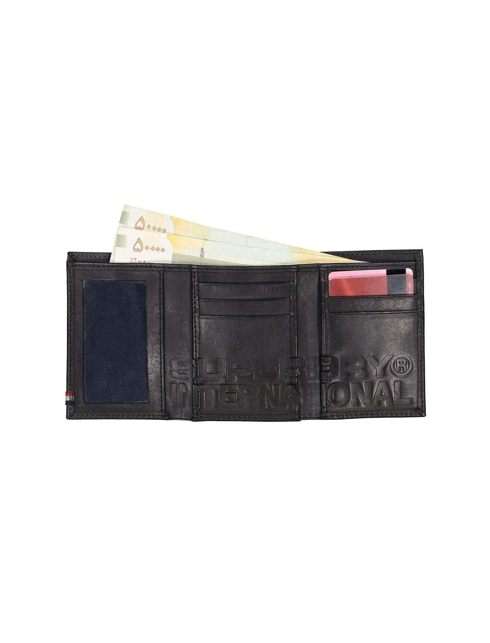 کیف پول کتابی چرم مردانه Premium Bi Fold Leather - سوپردرای - مشکي - 4