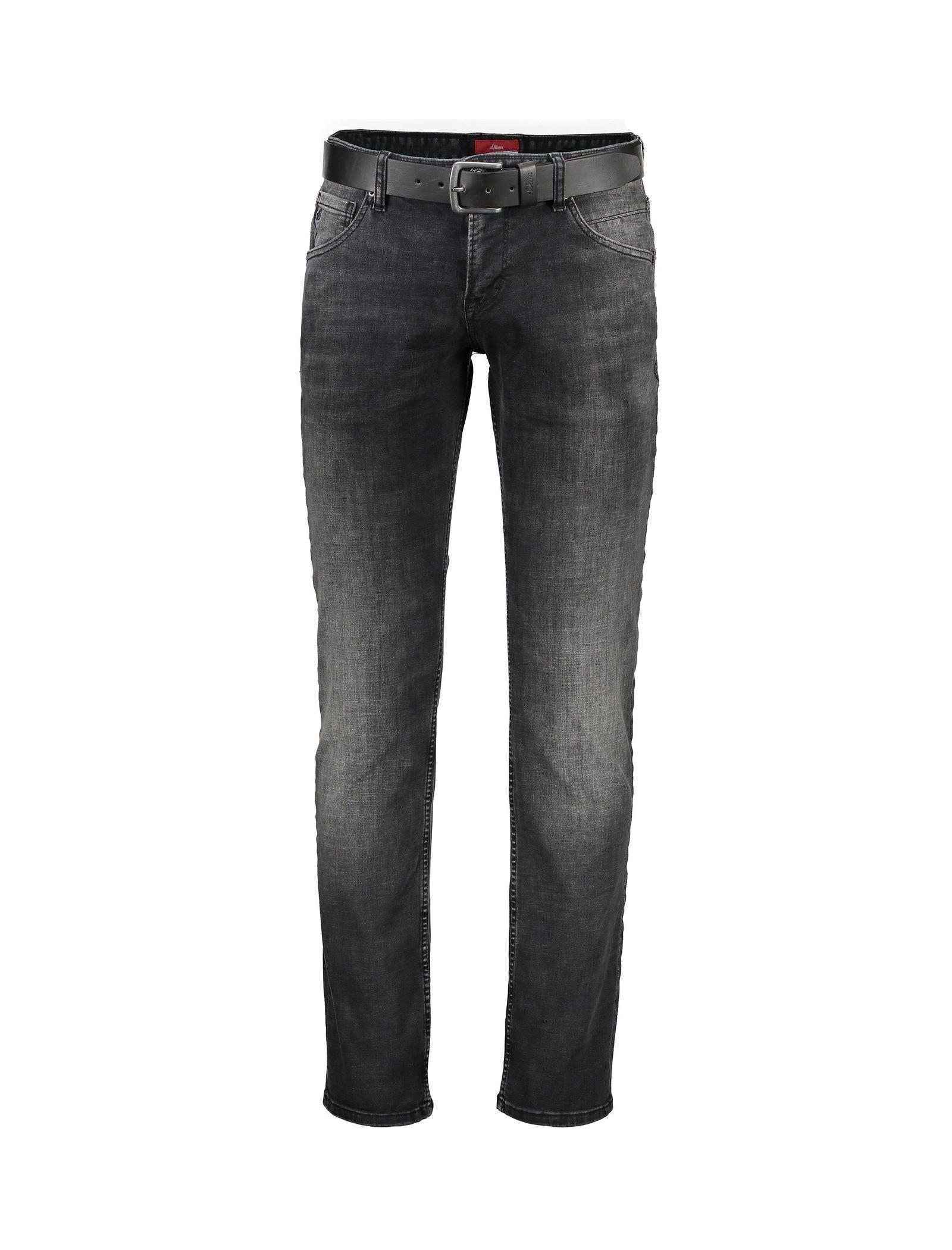 شلوار جین راسته مردانه - اس.اولیور - طوسي تيره - 1