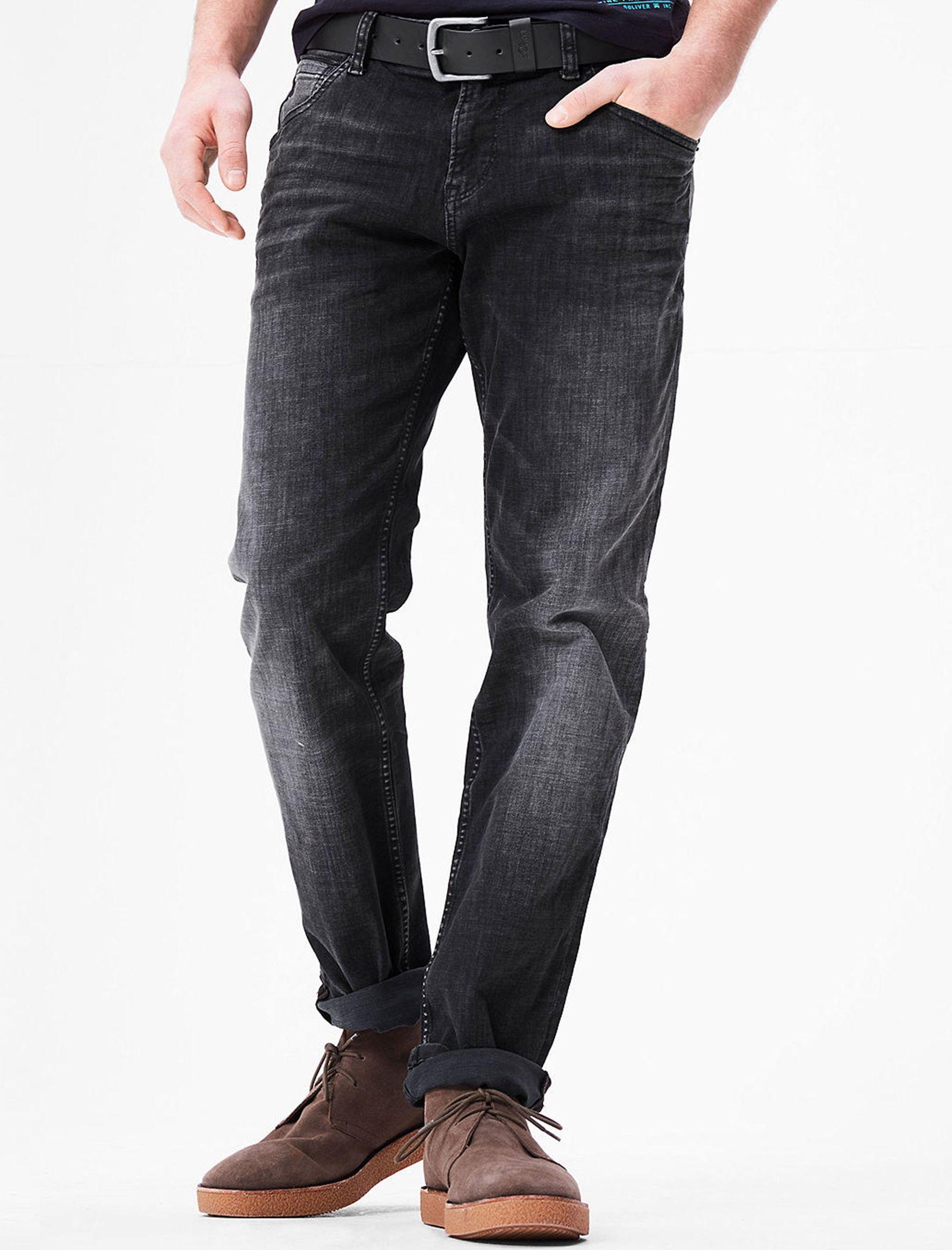 شلوار جین راسته مردانه - اس.اولیور - طوسي تيره - 5
