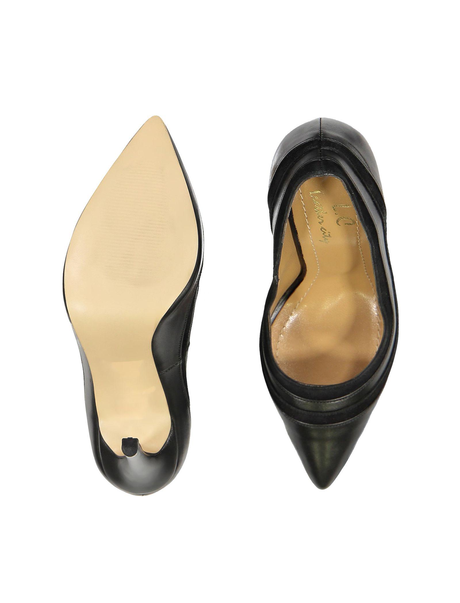 کفش پاشنه بلند چرم زنانه - شهر چرم - مشکي - 2