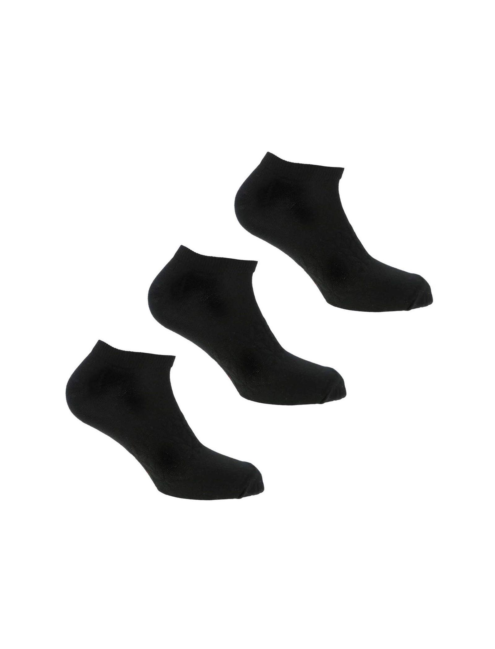 جوراب ورزشی بدون ساق مردانه بسته 3 عددی - ریباک - مشکي - 2
