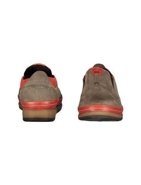 کفش تخت جیر زنانه - شهر چرم - خاکي و قرمز - 4