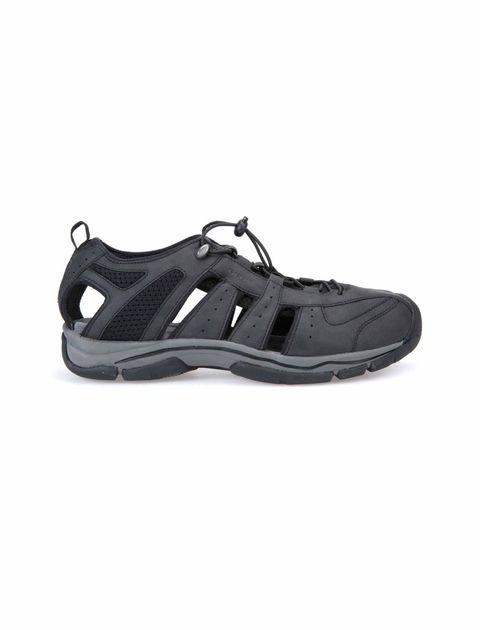 کفش پیاده روی بندی مردانه - مشکي - 1