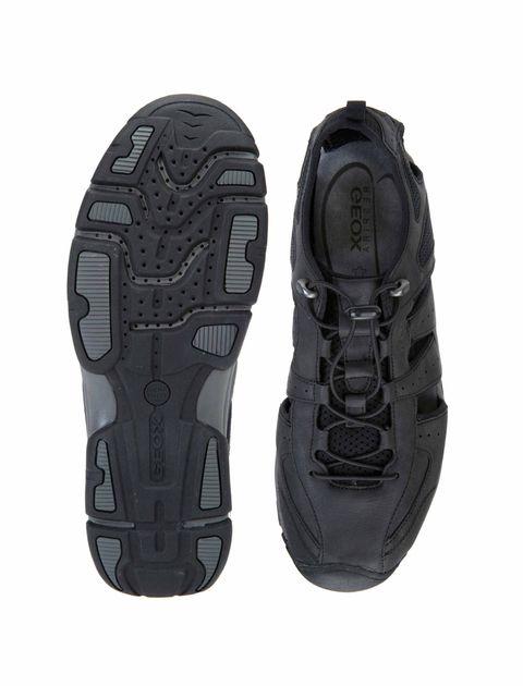کفش پیاده روی بندی مردانه - مشکي - 2