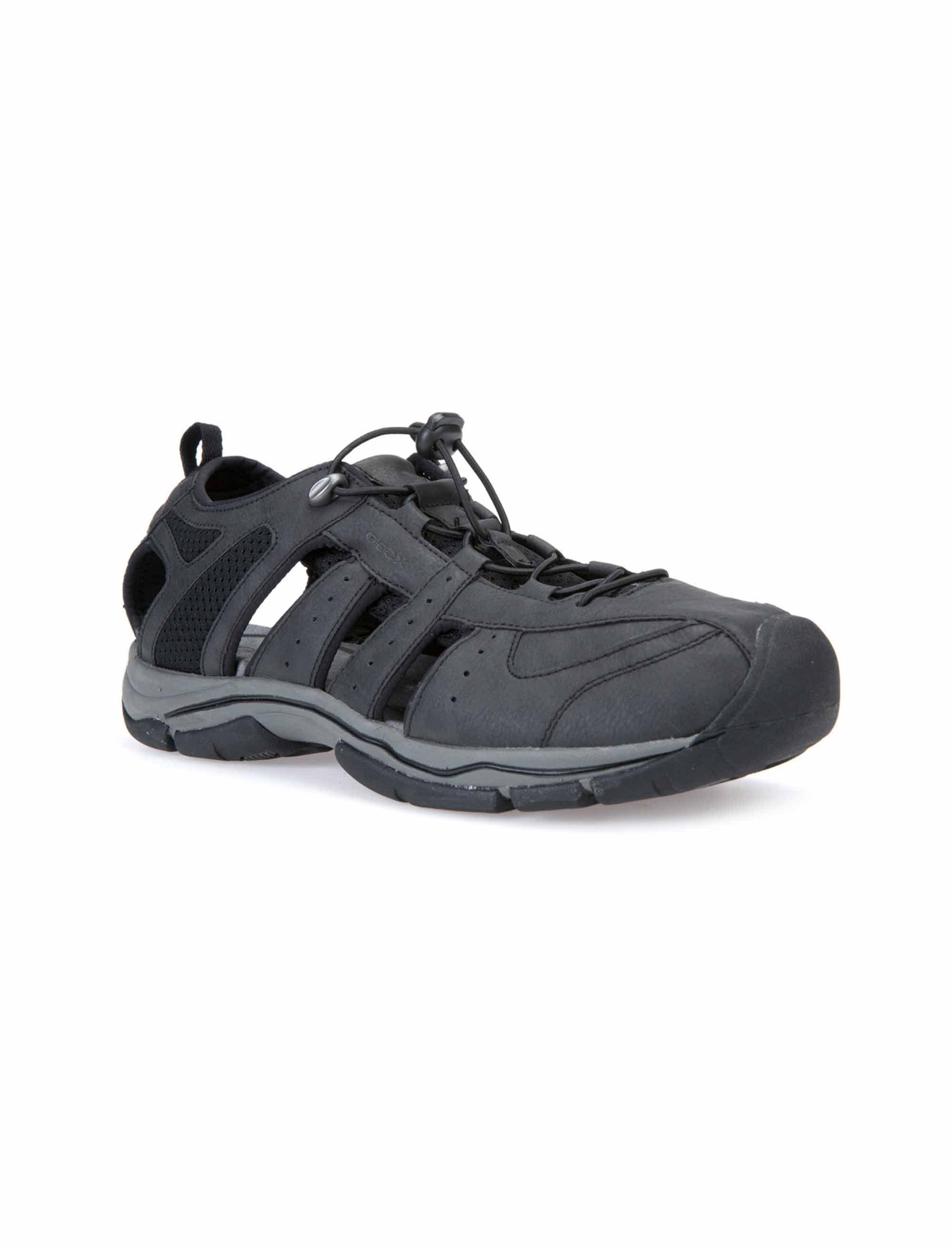 کفش پیاده روی بندی مردانه - مشکي - 3