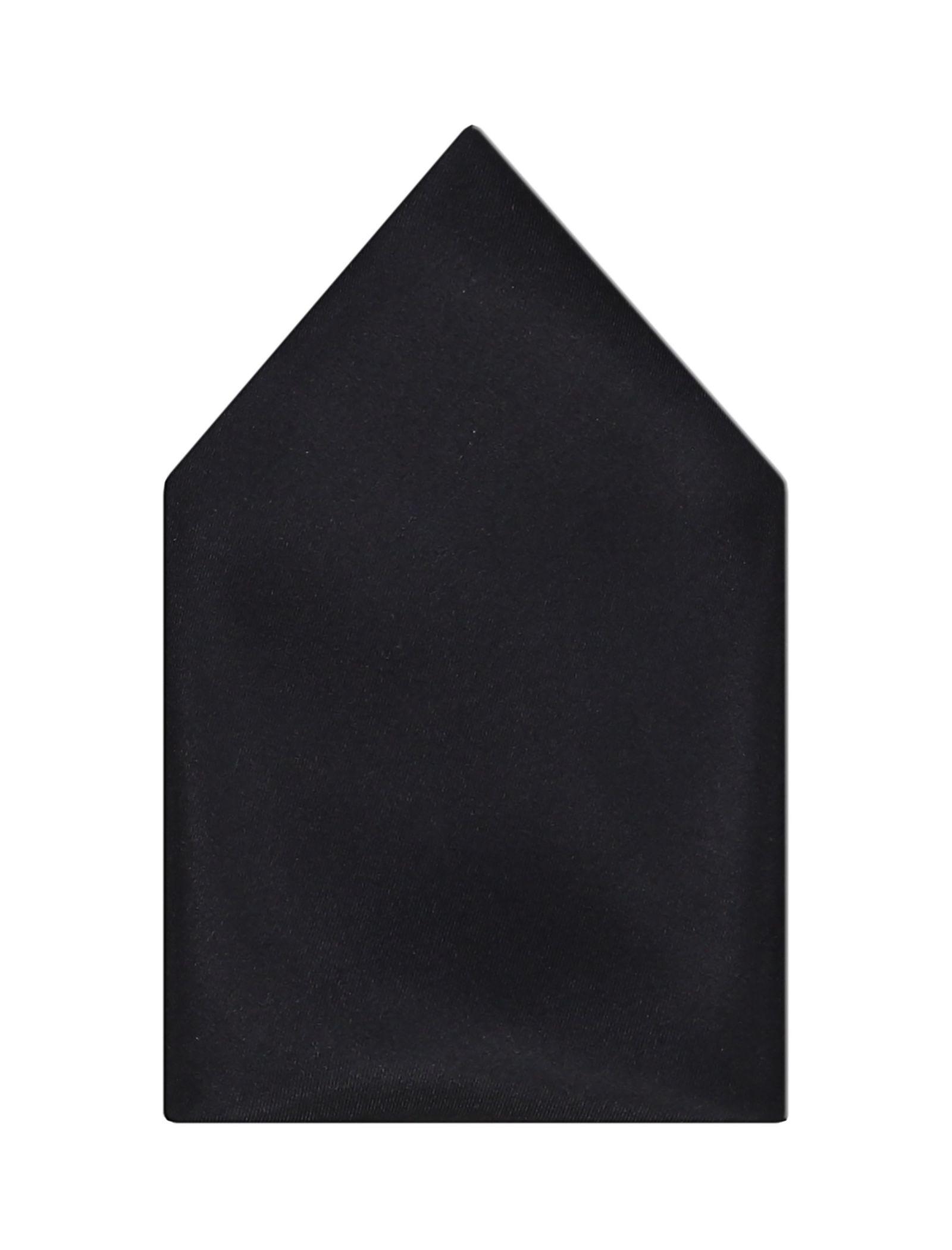 دستمال گردن ابریشم طرح دار مردانه - مانگو - مشکي و طوسي - 6