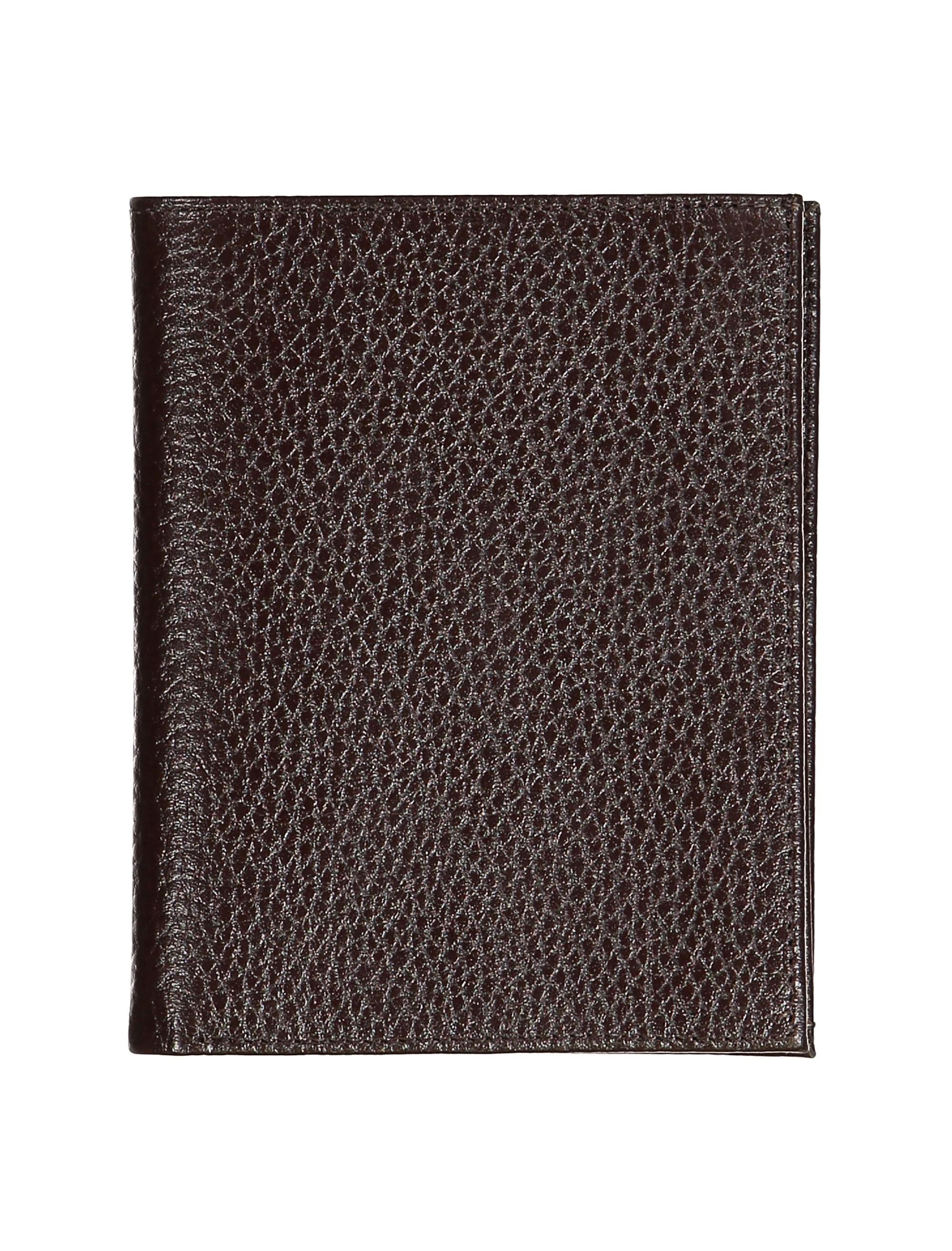 کیف پول چرم کتابی مردانه - چرم مشهد - قهوه اي - 2