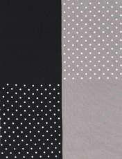 دستمال گردن ابریشم طرح دار مردانه - مانگو - مشکي و طوسي - 4