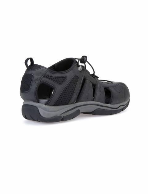 کفش پیاده روی بندی مردانه - جی اوکس - مشکي - 4